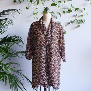 VINTAGE 90s Kimono Sleeve Paisley Print Robe